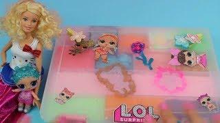 LOL Bebek ve Barbie ile Slime Seti Yaptık 13 LİL Sisters Sakladık Oje ile Süsledik Bidünya Oyuncak