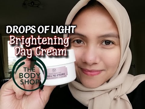 review-pelembab-wajah-drops-of-light-body-shop-:-pure-brightening-day-cream