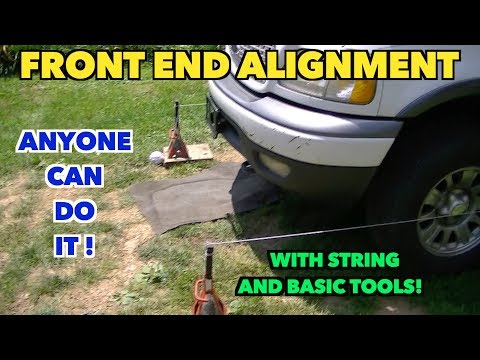 Auto Front End Alignment Made Easy. Do it yourself.