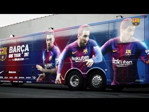 The Barça bus is getting ready for the U.S. Tour