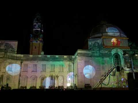 Cardiff City Hall goes Willy Wonka for Roald Dahl Day