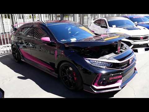 Custom Black And Pink Honda Civic Type R - 2019 HIN LA - Hot Import Nights, Los Angeles, CA