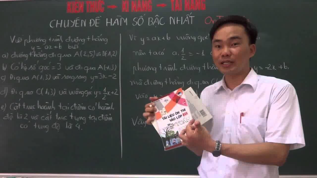 Hàm số bậc nhất và các bài toán liên quan- luyện thi vào 10 THPT[http://mclass.vn/thaydoquangkhuong]