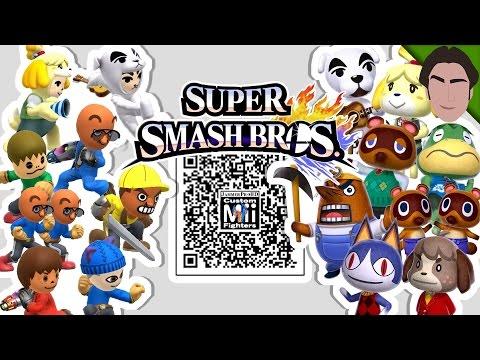 Isabelle, KK Slider, Tom Nook, & MORE! - Custom Mii Fighter QR Codes