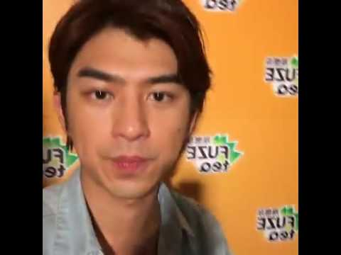Chen Bolin in Fuze Tea event back stage interview