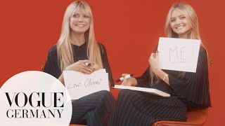 Heidi & Leni Klum play 'Who knows whom better?' | VOGUE Germany