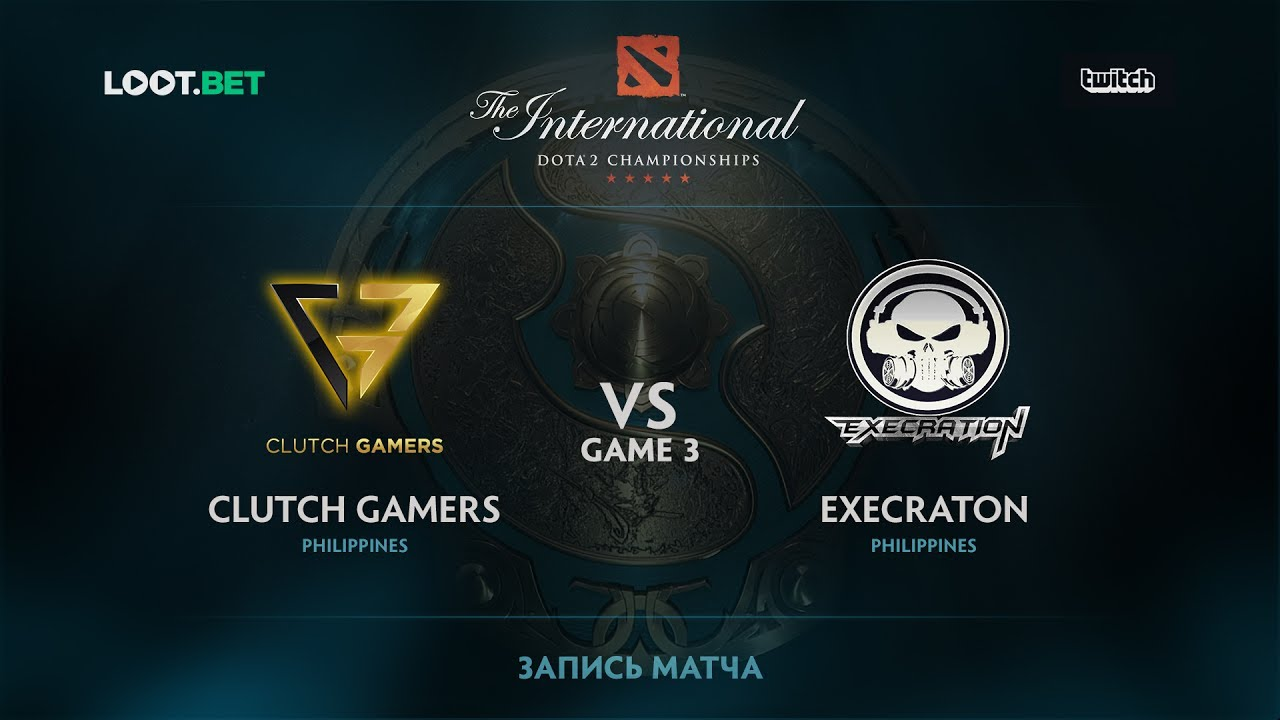 Clutch Gamers vs Execration, Game 3, The International 2017 SEA Qualifier
