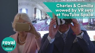 Prince Charles and Camilla wowed by VR sets at YouTube Space