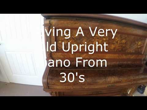 How to Move a Very old Upright piano | Highland Village Piano Movers
