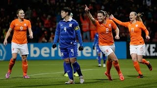 Highlights Oranjevrouwen-Thailand 7-0 07-02-2015