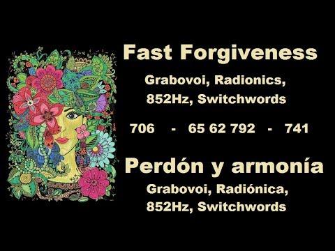 ♛PODEROSA♛ Meditación  del Perdón: Grabovoi,  Switchwords, Frecuencia 852Hz y Radiónica.