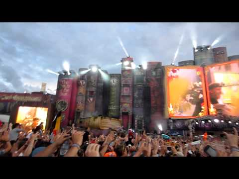 Tomorrowland 2012 David Guetta Intro with Titanium (Alesso Remix) Full HD