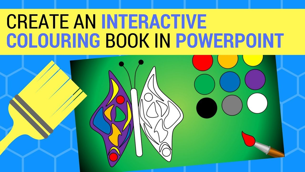 Create An Interactive Colouring Book In PowerPoint - YouTube