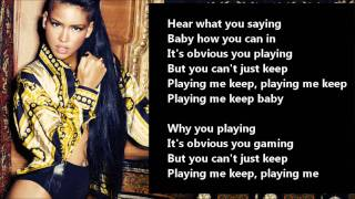 Cassie - King Of Hearts /\ Lyrics On A Screen