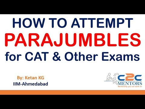 Verbal Ability - How to solve parajumbles & jumbled sentences in CAT and Other Exams