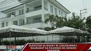 SONA: Elevator sa bahay ni Junjun Binay, naungkat sa pagdinig ng senado kahapon