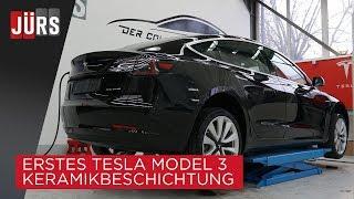 Erstes Tesla Model 3 Keramikbeschichtung