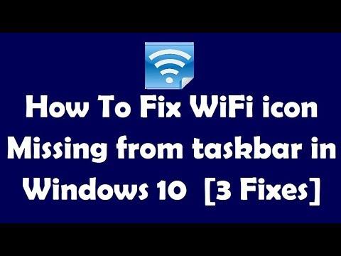 wifi icon missing taskbar windows 10