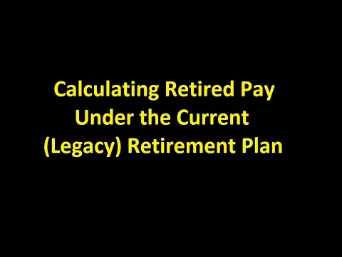 Episode 0014 - Calculating Retired Pay Under The Current (Legacy) Retirement Plan