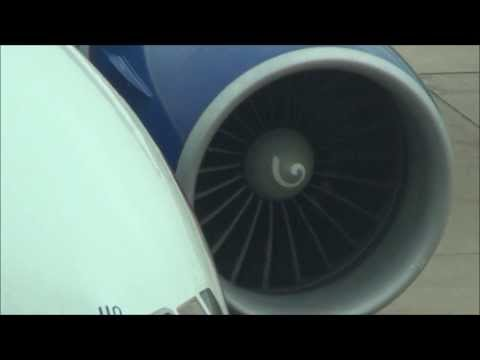 GE90 Jet Engine Startup. Boeing 777 British Airways. G-VIIO