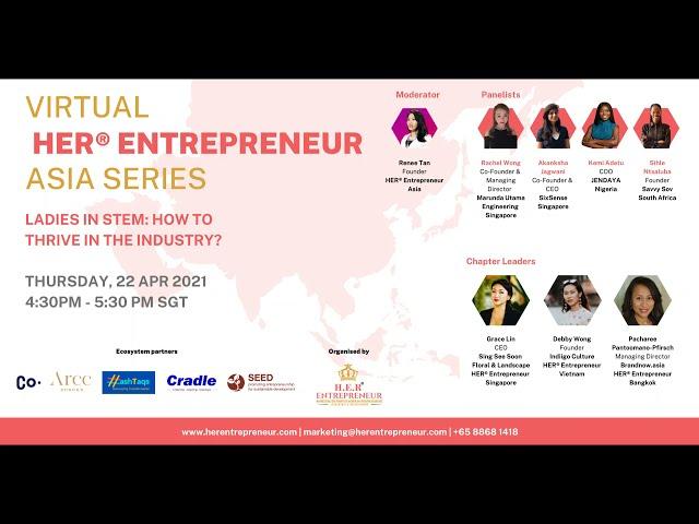 Inspiring Women Leaders in STEM   HER® Entrepreneur Asia Series April 2021
