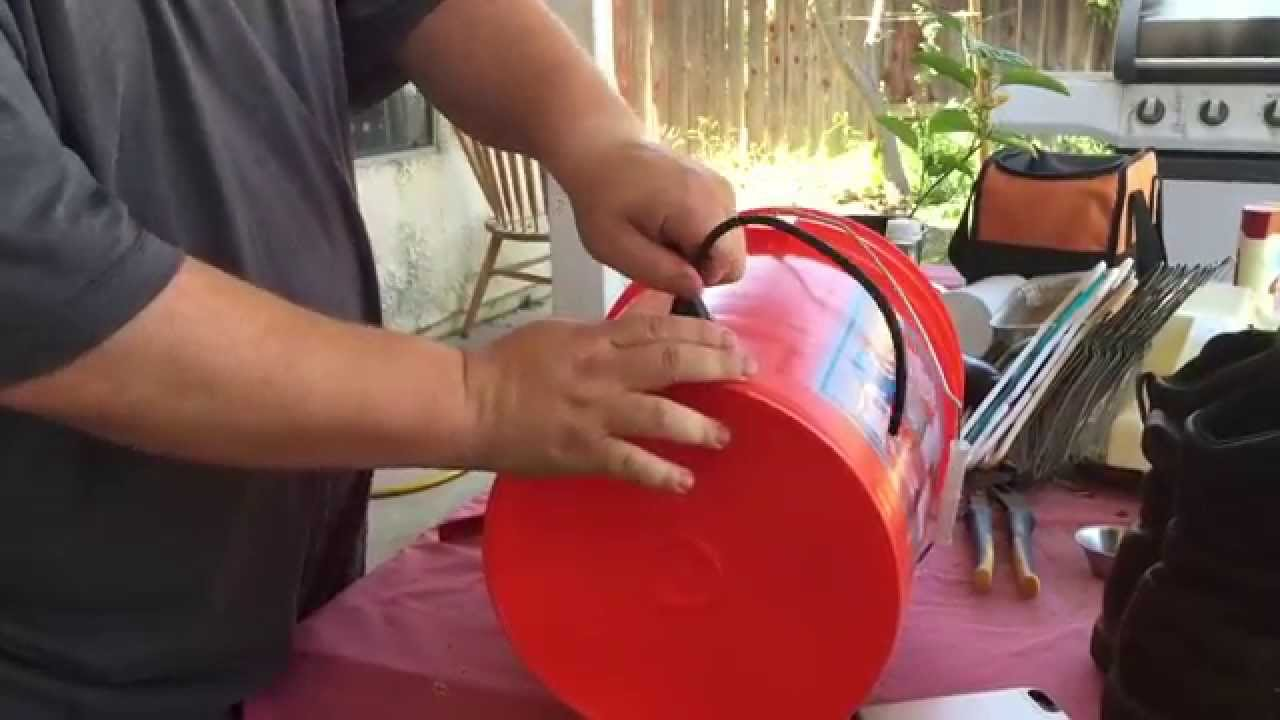 Drip Irrigation With A Bucket For Trees Youtube