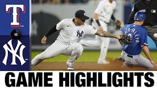 Rangers vs. Yankees Game Highlights (9/22/21) | MLB Highlights