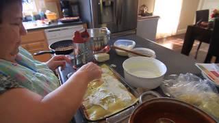 Homemade Lasagna Made By My Sicilian Mom, Momma Paula!
