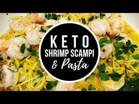 Keto / Low Carb Shrimp Scampi & Pasta Recipe | Carly Voinski