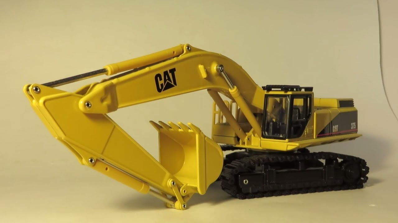 Joal 1:50 Caterpillar 375 Excavator Model Review - YouTube