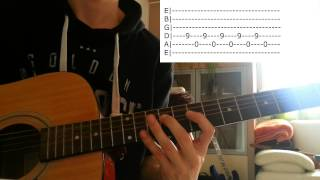 How to play - Burn My Shadow - UNKLE (With TABS)