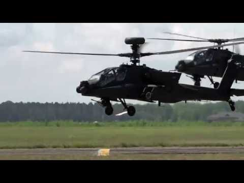 National Guard l AH-64 Apache Helicopters in Action