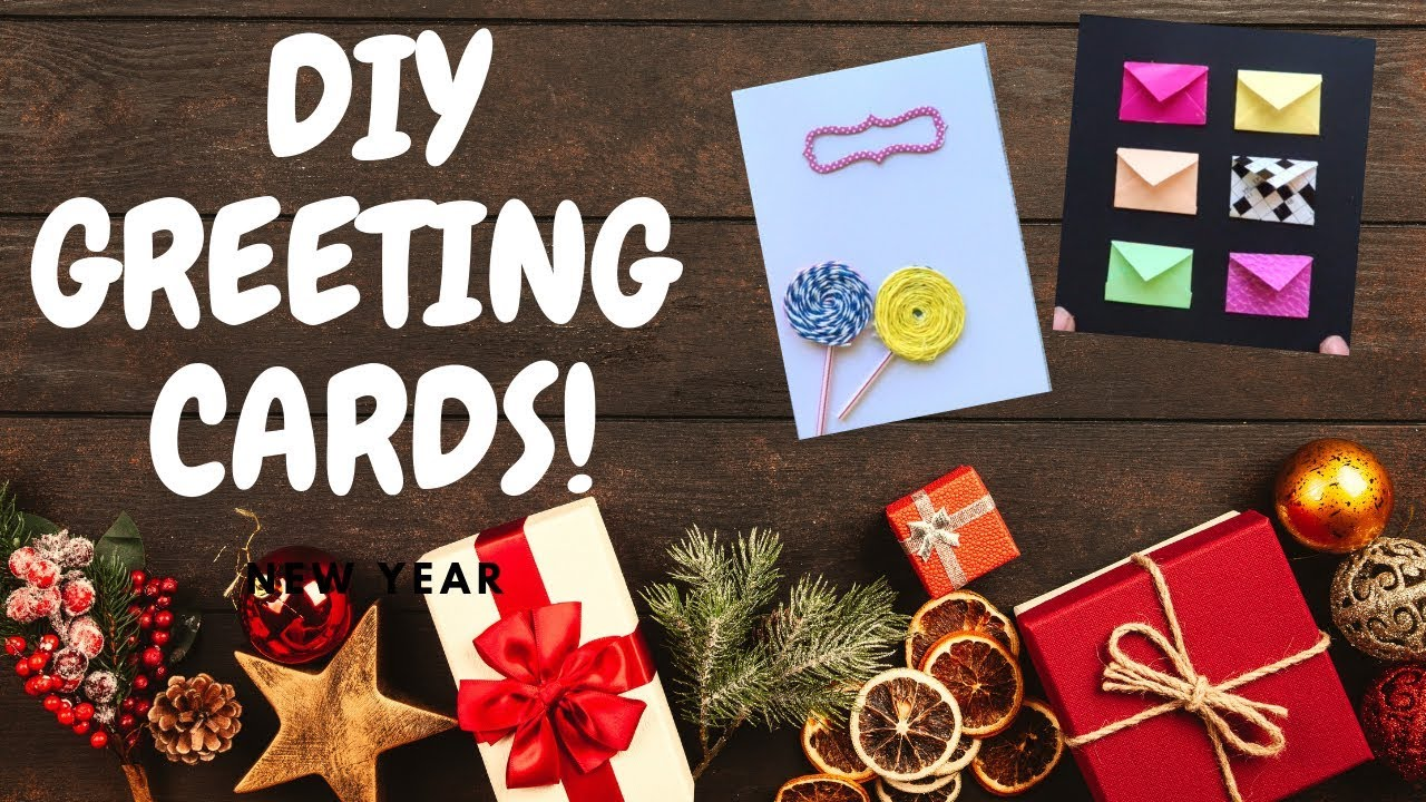 DIY HAPPY NEW YEAR GREETING CARDS //5 CRAFT making IDEAS ...