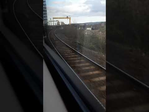 NI RAILWAYS CAF 4000 4011 Belfast To Bangor Train Ride