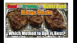 Ribeye Steak Umai v Cryovac Wet v Butter Aged How-To BBQ Champion Harry Soo SlapYoDaddyBBQ.com