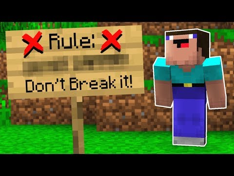 BREAKING ALL THE RULES IN MINECRAFT!