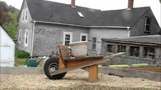 Rat Rod Wheel Barrow Flower Pot