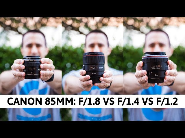 SUPER CONFRONTO: Canon 85mm f/1.8 USM vs. Canon 85mm f/1.4 L IS USM vs. Canon 85mm f/1.2 L USM II!!