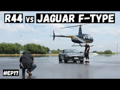 Robinson R44 vs Jaguar F-Type feat André Pilli