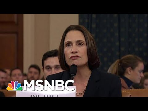 Wallace: Fiona Hill Laid Bare 'Domestic Political Errand' By President Trump | Deadline | MSNBC