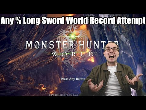 Any % Long Sword World Record Attempt - (Monster Hunter World - PS4 Pro Performance Setting)