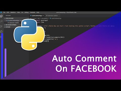 Auto Comment On Any Facebook Post With Just 10 Lines Of Python Script (Unlimited)