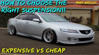 HOW to CHOOSE the right SUSPENSION? || Getting that STATIC Drop || Expensive Suspension vs Cheap....