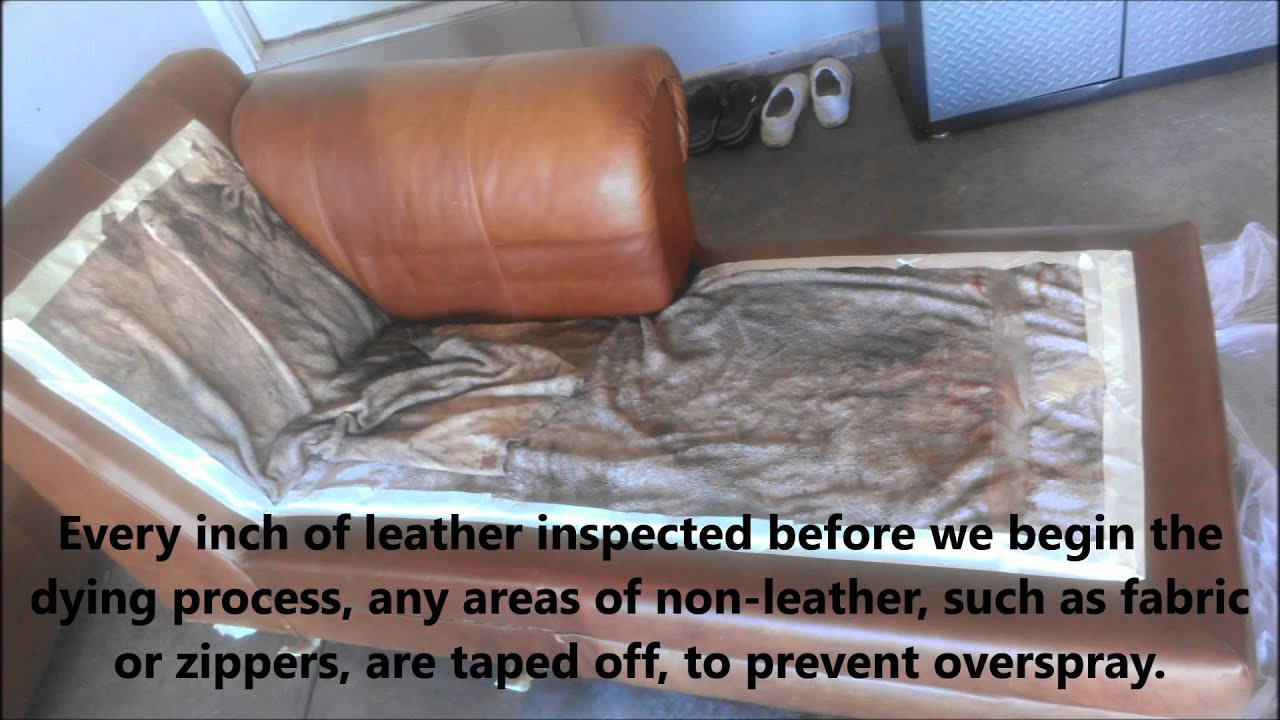 Genial Leather Furniture Stain Repair And Color Revitalization   YouTube