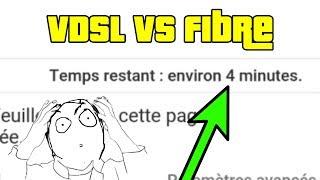 Différence de temps d'upload entre VDSL et Fibre free !