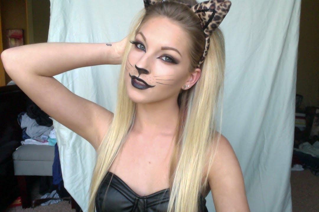 30344384fc3c Sexy Leopard Halloween Tutorial ♡ - YouTube