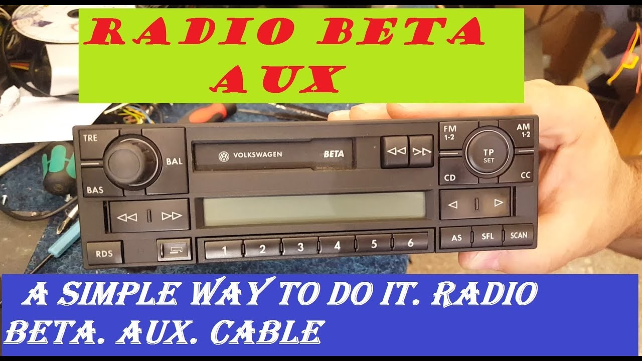 volkswagen beta vwz1z2 radio aux a simple way to do it. Black Bedroom Furniture Sets. Home Design Ideas