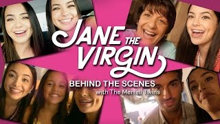 jane the virgin behind the scenes with the merrell twins cw network