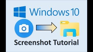 Windows 10 - Screenshots - How to Take a Screenshot - Print Screen in Computer on PC Laptop Tutorial