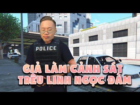 (GTA 5) Giả danh Cảnh Sát trêu Linh Ngọc Đàm cười bể bụng